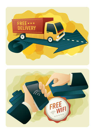 free delivery and free wifi