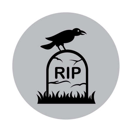 crow on a tombstone