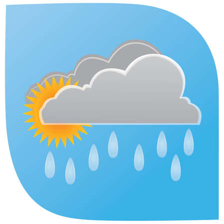 rainfall with clouds and sun