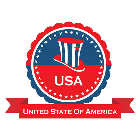 uncle sam's hat label Stock Vector - 106672948