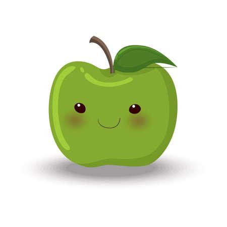 green apple  イラスト・ベクター素材