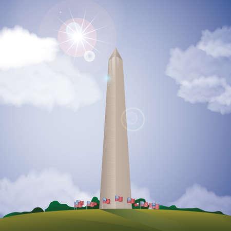 het Washington monument Stock Illustratie
