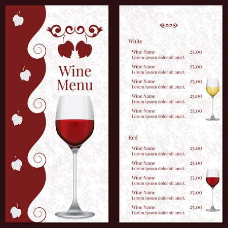 Wine menu Illusztráció