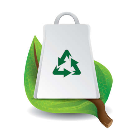 leaf with recycle bag Banco de Imagens - 106672971