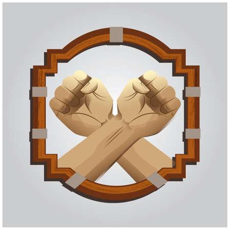 crossed fist