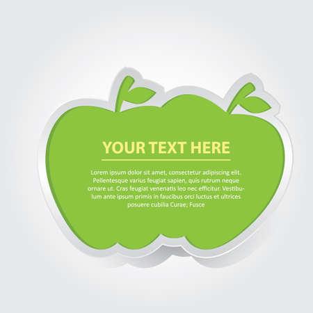 Diseño de manzana con texto Foto de archivo - 81470443