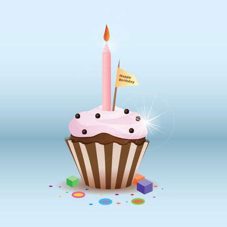 Petit gâteau d'anniversaire Banque d'images - 81536198
