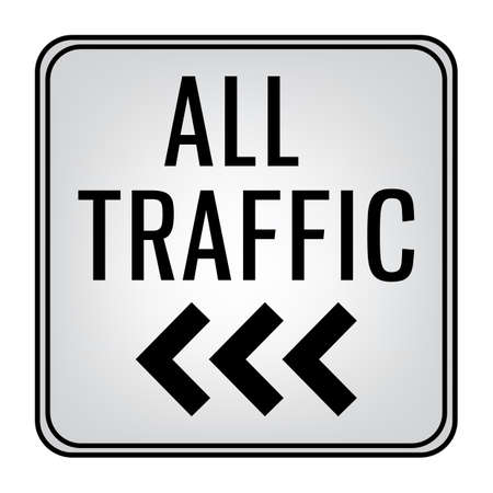 all traffic left signboard