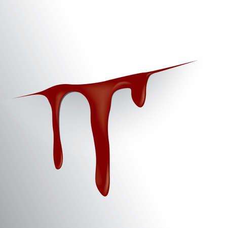Bloody cut wound