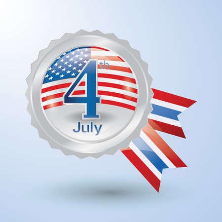 アメリカ独立記念日のロゼット