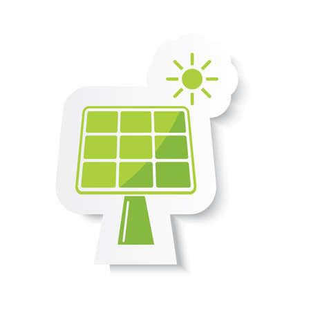 solar panel with sun