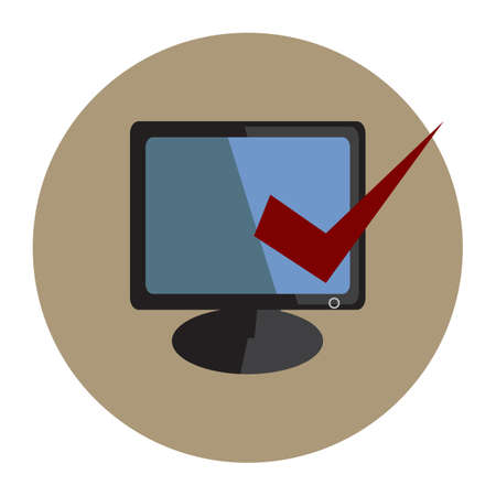 monitor with select icon Illustration