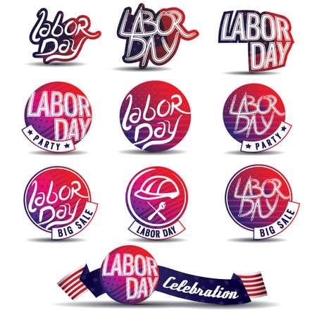 労働者の日ラベルのコレクション