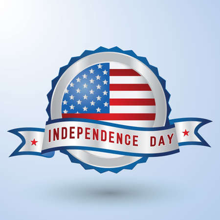 usa independence day badge