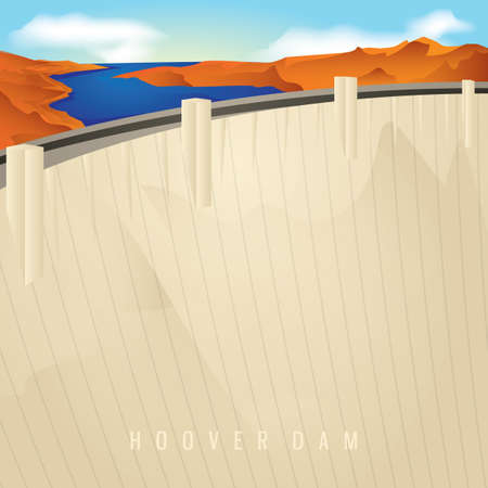 hoover dam Ilustrace