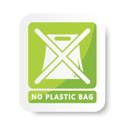 no plastic bag 向量圖像