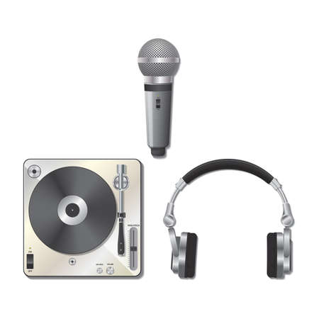 DJ 機器セット  イラスト・ベクター素材
