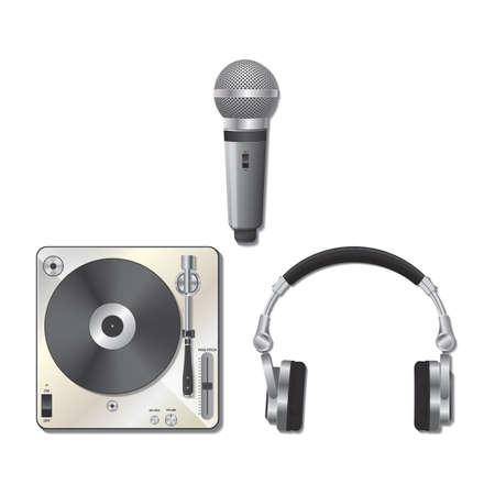 DJ equipment set