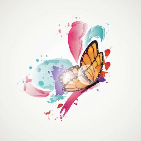 mariposa abstracta Ilustración de vector