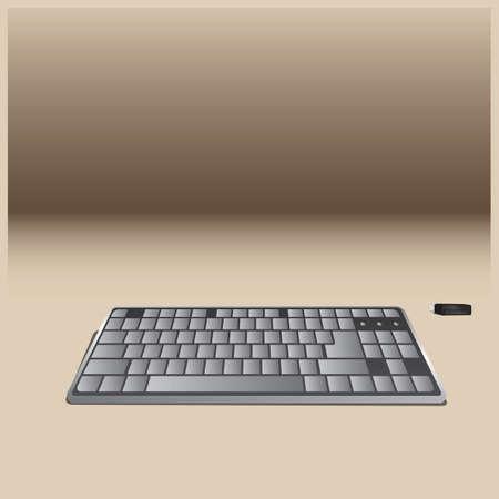コンピュータキーボード  イラスト・ベクター素材