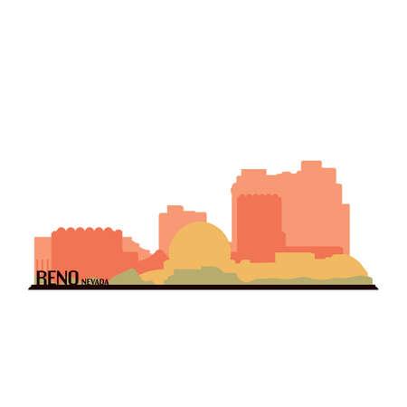 Reno nevada Illusztráció