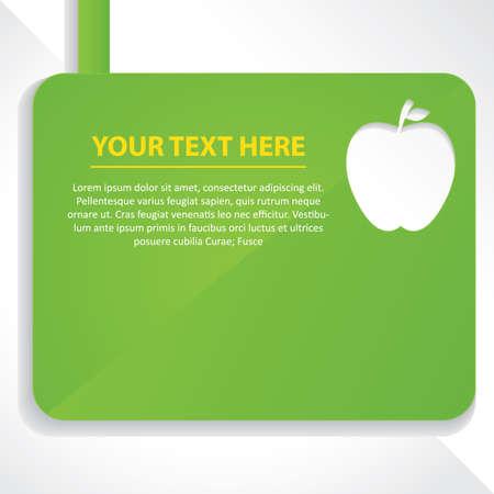 Diseño de manzana con texto Foto de archivo - 81470454