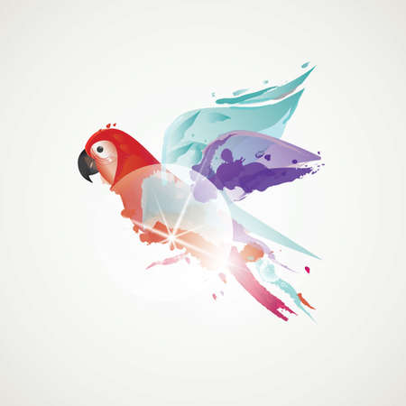 abstract parrot Ilustração