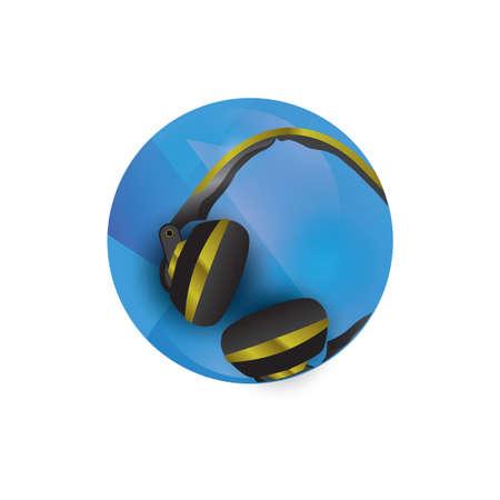 auriculares Ilustración de vector