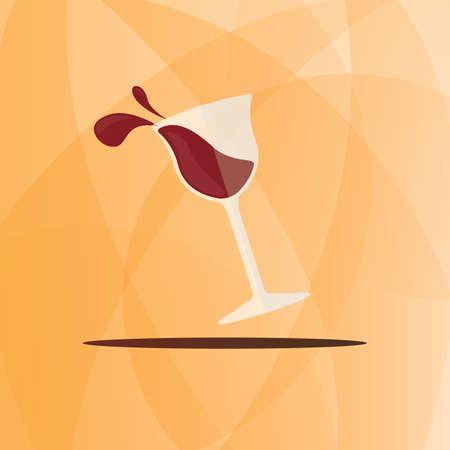ワイングラスのアイコン  イラスト・ベクター素材
