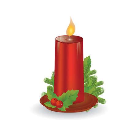 christmas candle Ilustração
