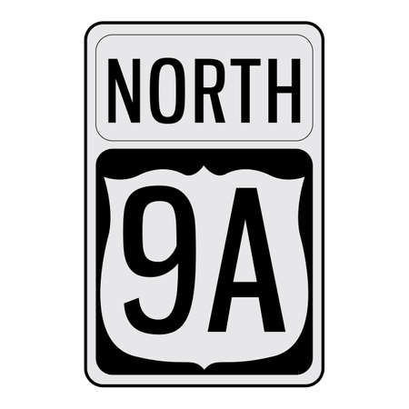 north 9a signboard