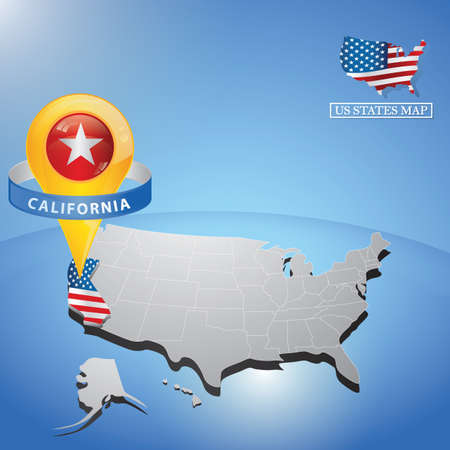 california state on map of usa