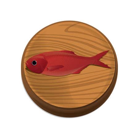 fish on chopping board