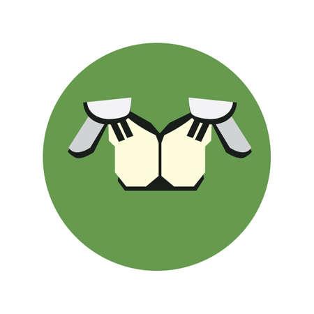 football shoulder pads Ilustração