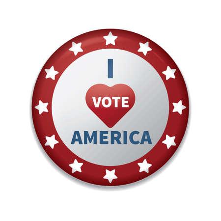 Ich stimme Amerika Abzeichen