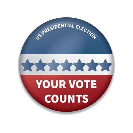su insignia de cuenta de votos Ilustración de vector