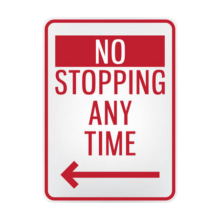 no stopping signboard