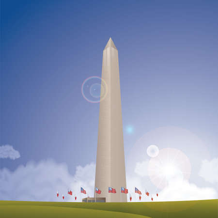 het Washington monument Stock Illustratie