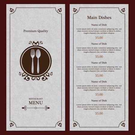 Le menu du restaurant Banque d'images - 81538006