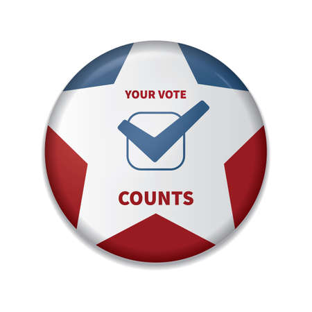 your vote counts badge Banque d'images - 106673093