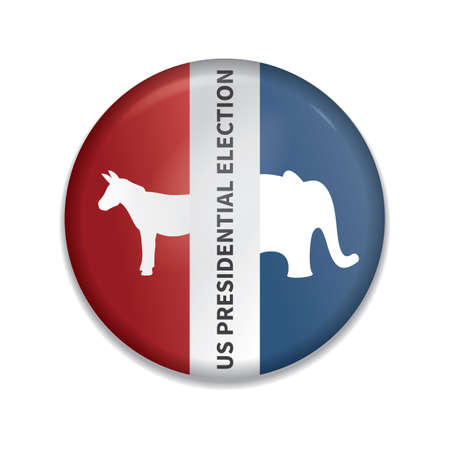 usa presidential election badge Stock Illustratie