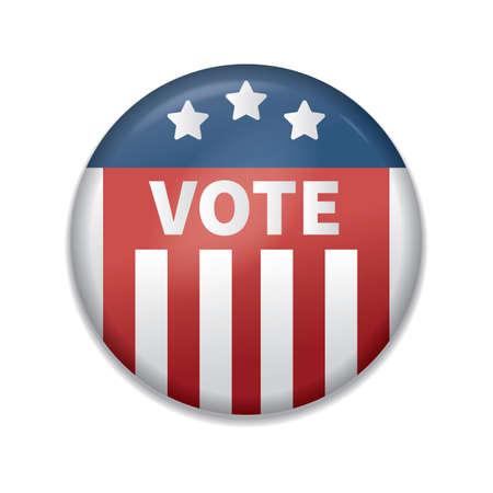 usa vote badge Illustration