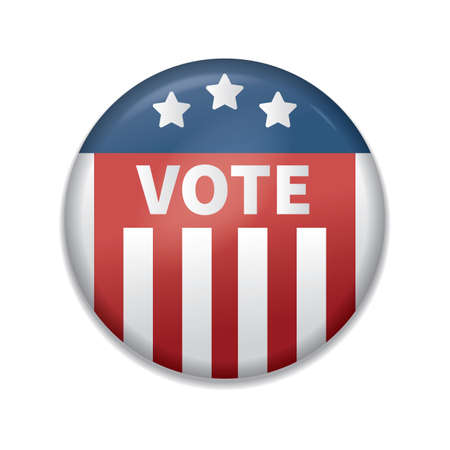 usa vote badge Stock Illustratie