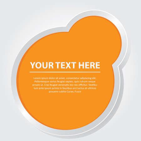 Design with text space Ilustração