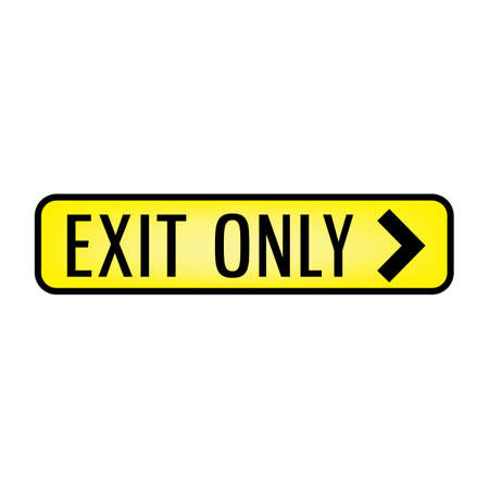 exit only signboard 向量圖像