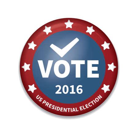 USA Abstimmungsabzeichen Vektorgrafik