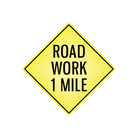 road work signboard Illustration