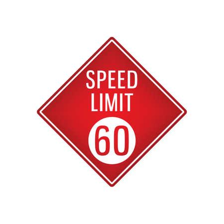 speed limit 60 signboard