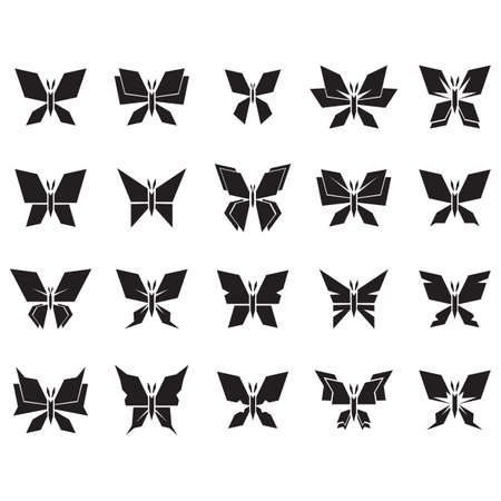collection of butterflies Stock Vector - 106673139