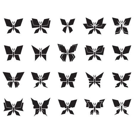 collection of butterflies Фото со стока - 106673139